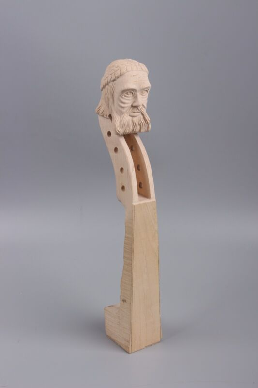 4/4 violin Neck old man Head Hand Carve maple wood parts High Quality
