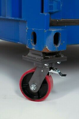 Two Cargo Container Wheel Casters - W Brake Twist Lock 3 Ton Free Shipping