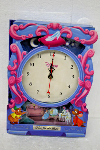 Disney Princess Time for the Ball Clock and Storybook Lady Bird BRAND NEW