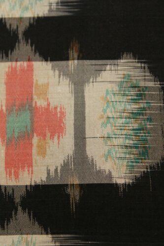 "f-973 antique kasuri silk kimono fabric - geometric - 13"" x 59"""