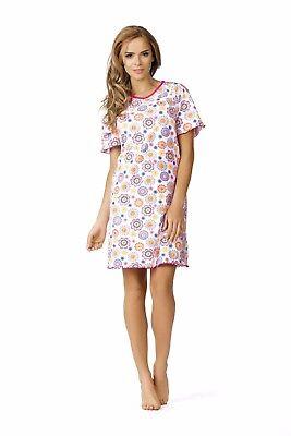 Comtessa Single Jersey Nachthemd Nachtkleid Shirt aqua magenta gemustert NEU ()