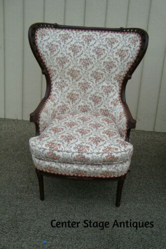 60891 Antique Mahogany Fireside Armchair Bergere Chair