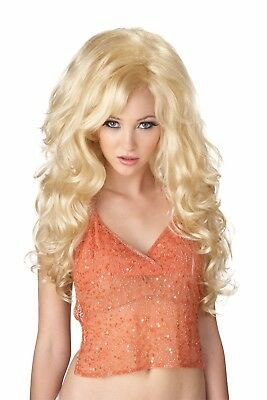 Bombshell Dolly Parton Video Vixen Women Costume Wig Blonde - Dolly Parton Halloween Wigs