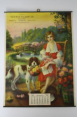 Original 1933 Pinup Advertising Calendar - Los Banos, California Company