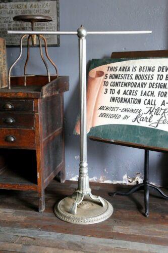 Antique Clothing Rack Art Deco Cast Iron Base Coat Rack Barber Denim Textile VTG