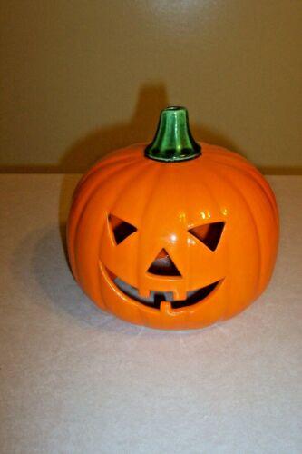 Vintage Halloween Ceramic Pumpkin Tea Light Candle holder Decoration