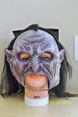Erwachsene Vampir Chinless Voll Latex Maske mit Haaren Kostüm TB27542