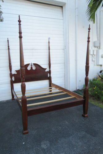 Mahogany Tall Queen Size Four Poster Bed 1690