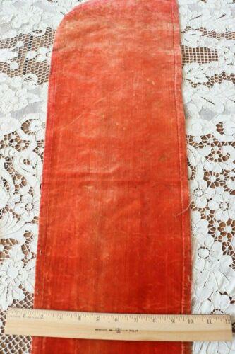 "Antique 1600s French Or Italian Silk Velvet Fabric~Dolls,Study~L-34""X W-9.5"""