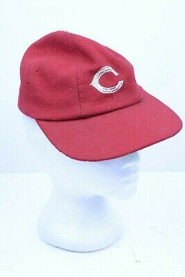 1950s Mens Hats | 50s Vintage Men's Hats Vintage 1940s-1950s Cincinnati Reds Baseball Cap - Size Small $112.49 AT vintagedancer.com