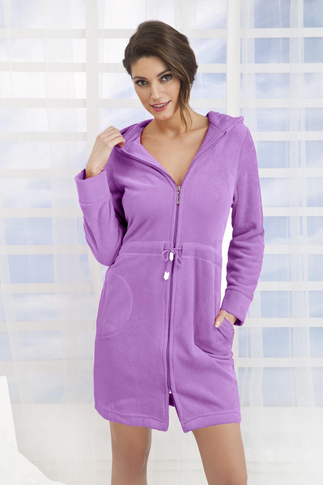 women 39 s cotton dress style bath robe housecoat dressing. Black Bedroom Furniture Sets. Home Design Ideas