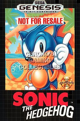 RGC Huge Poster - Sonic the Hedgehog Sega Genesis BOX ART - SON001
