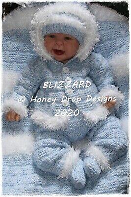 "BLIZZARD * PAPER KNITTING PATTERN * 22+"" Reborn/3-6 Months approx."