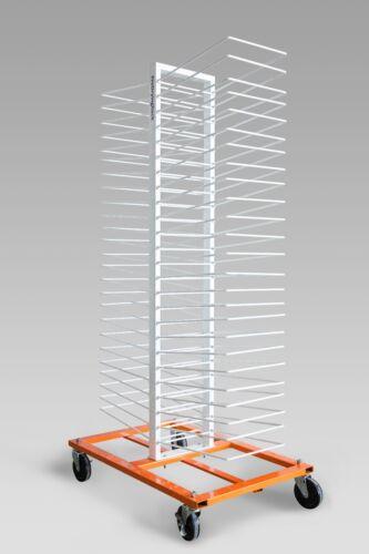 Mobile drying rack for cabinets, doors, shelves, paint shops