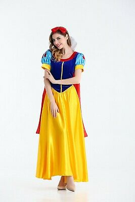 Womens Fairy-tale Princess Snow White Halloween Costume Cosplay Dress Gown ZG9