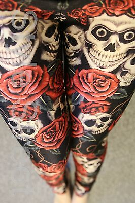 Schädel Leggings Skelett M L 38 40 Skull - Halloween Leggings