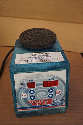 Si Genie 2 Vortexer Vortex Shaker Mixer Used Lab  Rotator Mini Touch Digital