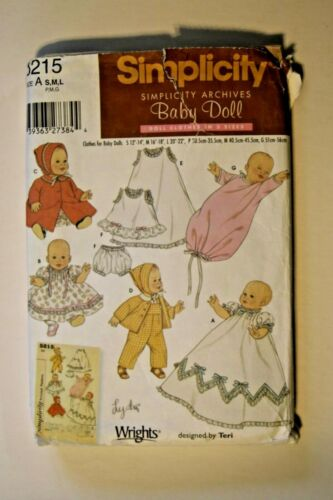 Simplicity   # 5215  Baby Doll Clothes