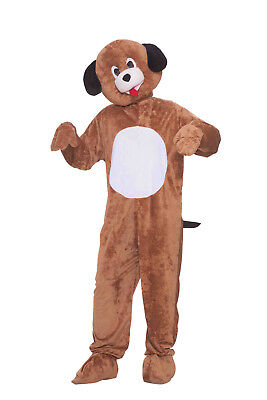 Adult Plush Mr. Puppy Mascot Costume Full Body Dog Animal Suit Size - Full Body Animal Costume