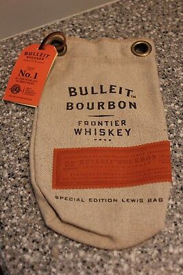 - New Bulleit Bourbon Special Edition Burlap Ice Crusher Lewis Gift Bag Free Shpg