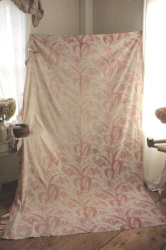 Shabby Chic BEAUTIFUL faded floral fabric material French about 3 yards