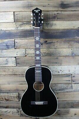 Recording King RPS-7-MBK Matte Black Parlor Acoustic Guitar  #R5118