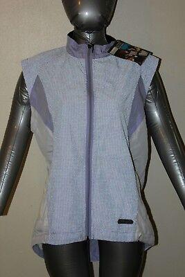 NEW ~ IllumiNite Reflectivewear Cycling Vest ~ womens Large, lavender & white