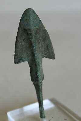 ANCIENT GREEK BRONZE ARROWHEAD 5/4th CENTURY  BC