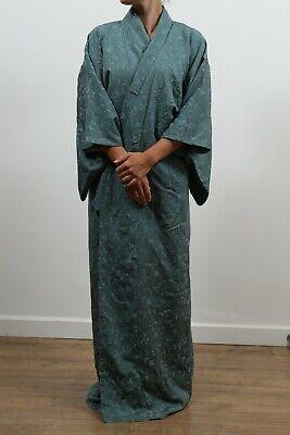 Authentic traditional vintage Japanese chirimen silk kimono