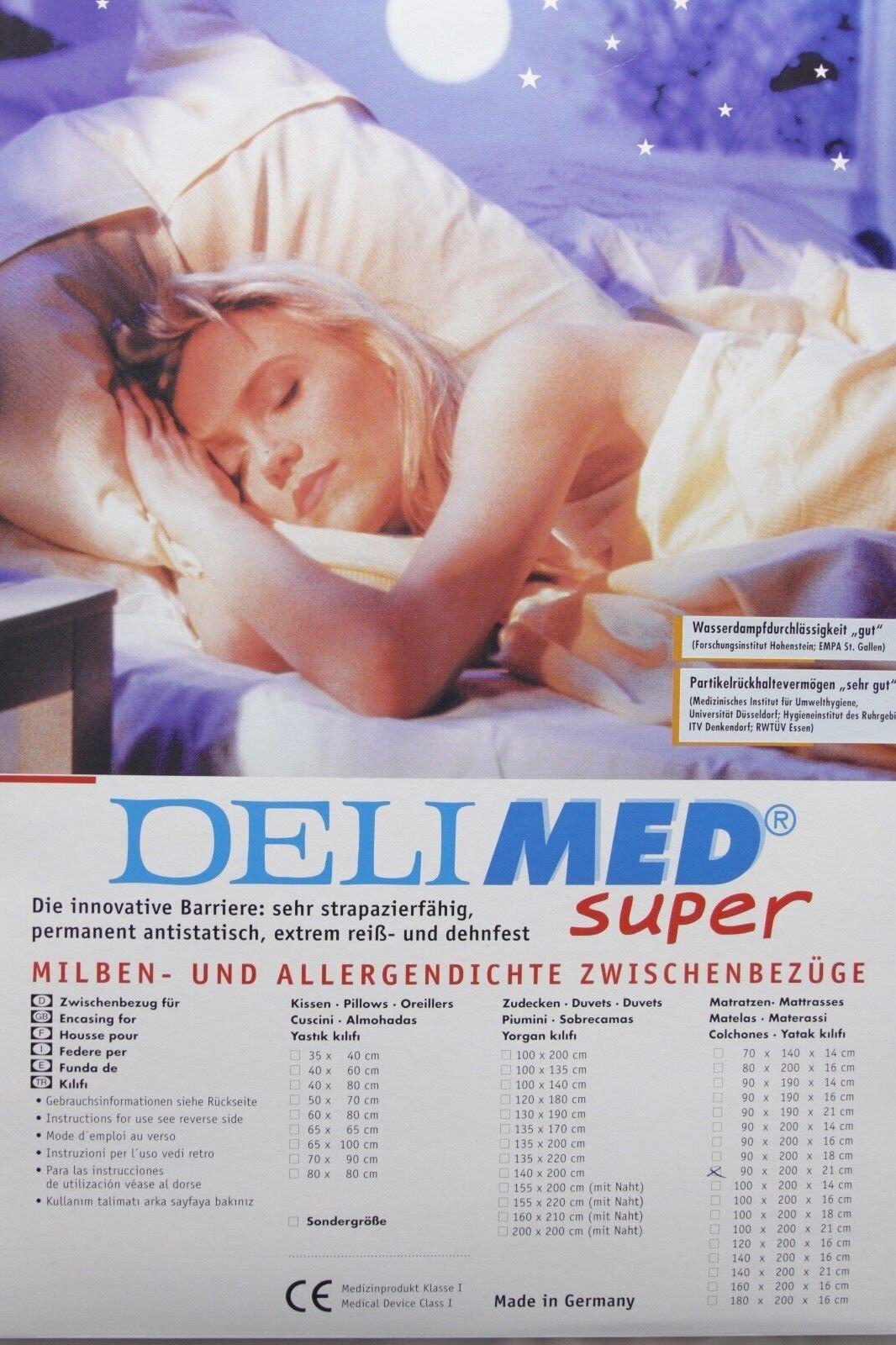 Allergiker Deckenbezug Milbendicht Milbenschutz Bettwäsche Bettgarnitur 135x200