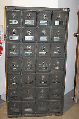 Vintage U S  Post Office Boxes  28 Boxes Combination Locks Intact
