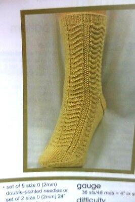 Gardiner Yarn Works Knitting Pattern Walk in the Woods Socks Advanced Beginner