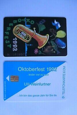 2 Stück TK Telefonkarten Deutschland K199 a b 08.92 Oktoberfest 1992 Weinfurtner