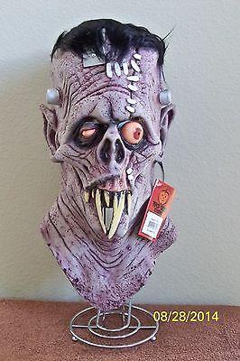 GRUESOME MONSTER SKULL FRANKENSTEIN HALLOWEEN FULL LATEX MASK COSTUME MA102 - Frankenstein Halloween Mask