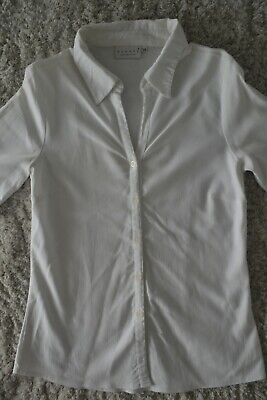 Chemisier blanc manches 3/4 - taille 38 (H&M)