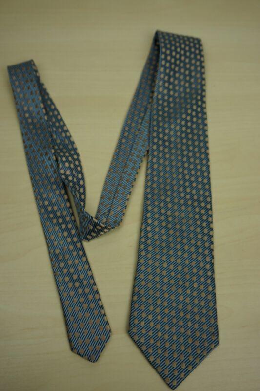 Charvet bébé bleu minuit rayé cuivre géométrique soie tissé cravate france