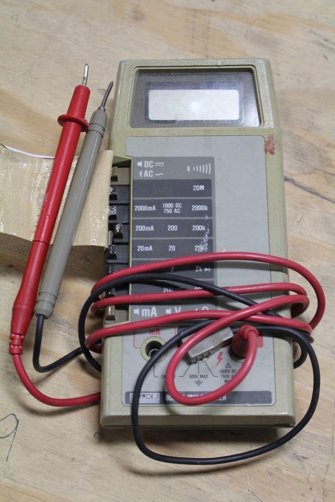 fluke model 8021b digital multimeter 8021 b ebay rh ebay com Fluke Instruction Manual Fluke 115 Manual PDF