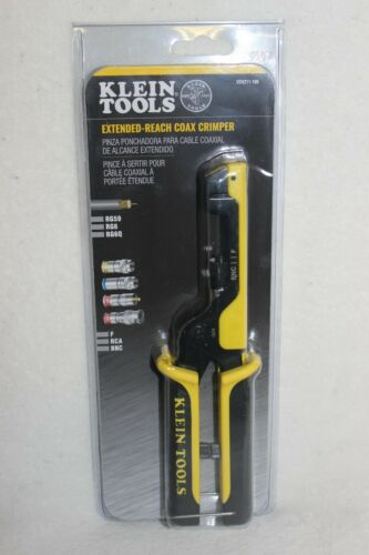 Klein Tools VDV211-100 Extended Reach Coax Crimper New