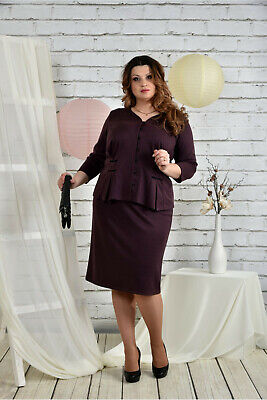 Business Kostüm Bordeaux Rock Jackett Frauen Größe 50 52 - Frauen Türkei Kostüm