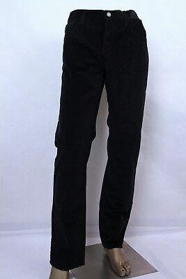 Gucci Herren Schwarz Regular Velvet Cord Hose mit / Trensen auf der Rückseite Velvet Cord-hose