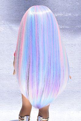 "Custom Doll Wig for 18"" American Girl dolls OG Heat Safe Ag Pink Rainbow 10-11"""