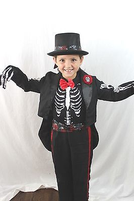 Tag der Toten Dia De Los Muertos Skelett Coco Kostüm Zombie Kinder Totenkopf - Dia De Los Muertos Kind Kostüm