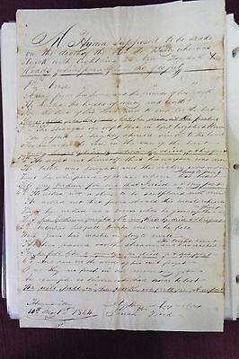 Jonas Bissey 1853-1854 (Circa) Manuscript