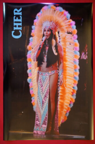 Cher Headdress Costume Classic Live Music Collectible Picture Poster 24X36  CHER