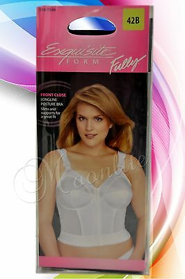Exquisite Form Fully FRONT CLOSURE Longline Posture Bra Vintage 34-48 B C D DD (Fully Front Closure Posture Bra)