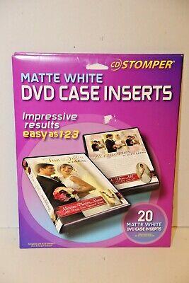 Avery CD Stomper Inkjet CD/DVD Jewel Case Inserts Matte White 20/Pack NEW