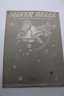 VINTAGE SHEET MUSIC SILVER BELL CHRISTMAS CARROLL