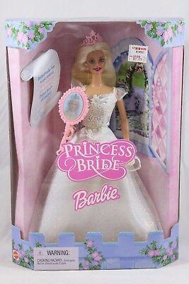 NRFB Mattel Princess Bride BARBIE Blonde Hair Doll w/ Magic Mirror 2001 50603