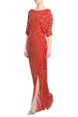 Jenny Packham Bead Sequin Embellished Floor Length Silk Gown NWT US 4 UK 8