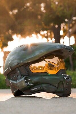 Master Chief Helmet (Halo Master Chief Wearable Helmet Full Size Spartan Cosplay Armor)